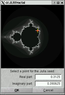 [Screen shot of Julia seed chooser]